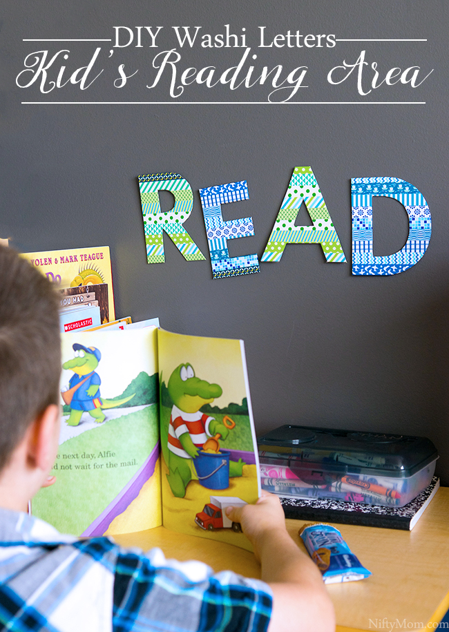 How to Make a  Washi Tape 'READ' Sign for Kid's Reading Area