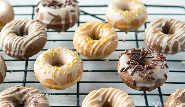 Mini Caramel Macchiato & Mocha Cake Donuts & Glaze Recipes - Quick & Easy!!