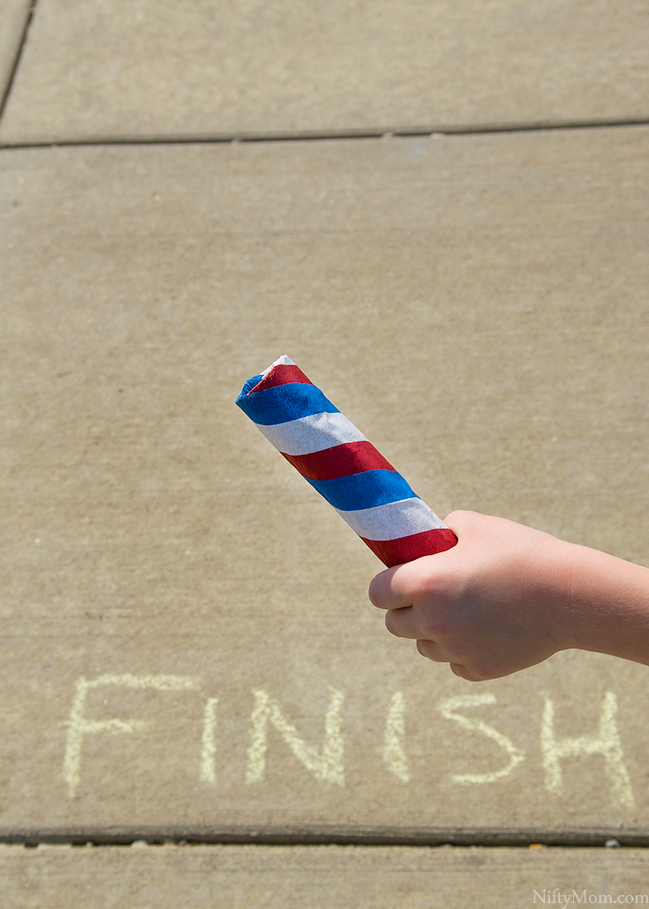 Outdoor Play Idea – Kid's Relays + DIY Kid's Relay Baton