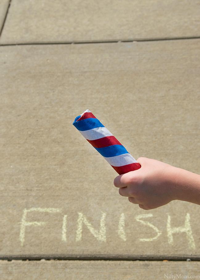 Outdoor Play Idea – Kid's Relays + DIY Kid's Relay Baton
