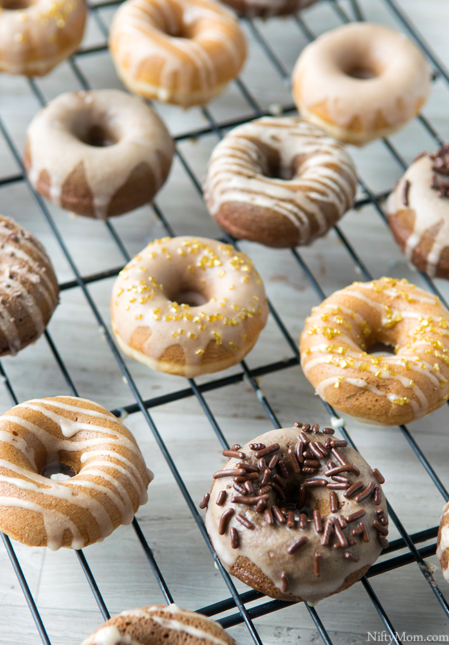 How to Make Mini Caramel Macchiato & Mocha Cake Doughnuts & Glaze