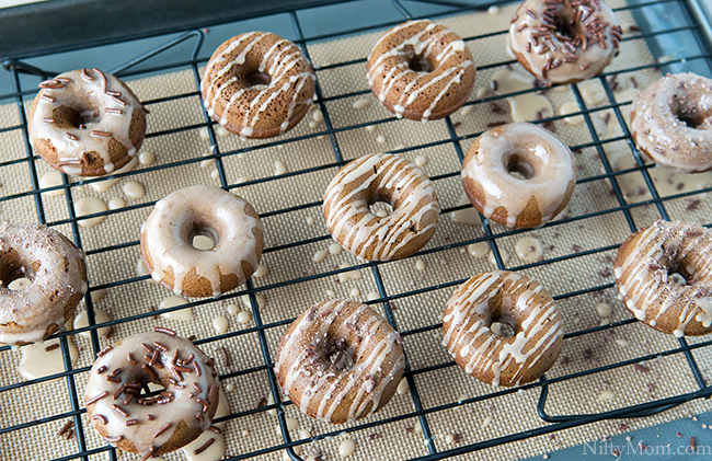 How to Make Mini Mocha Cake Donuts & Glaze