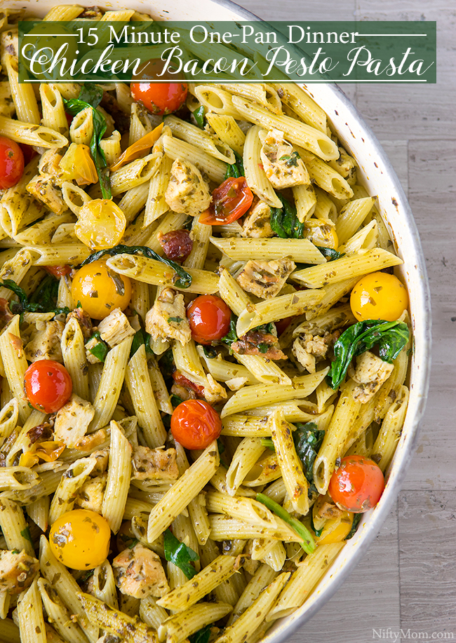One-Pan Chicken & Bacon Pesto Pasta Recipe
