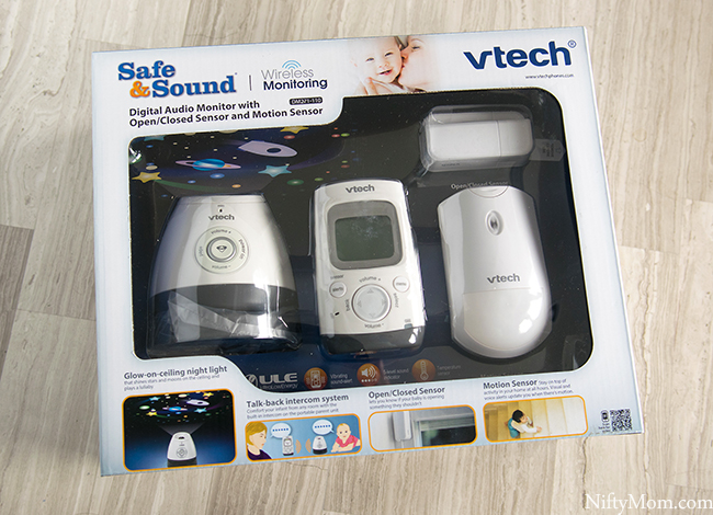 VTech Safe&Sound® DM271-110 DECT 6.0 Digital Audio Baby Monitor with Open/Closed & Motion Sensors