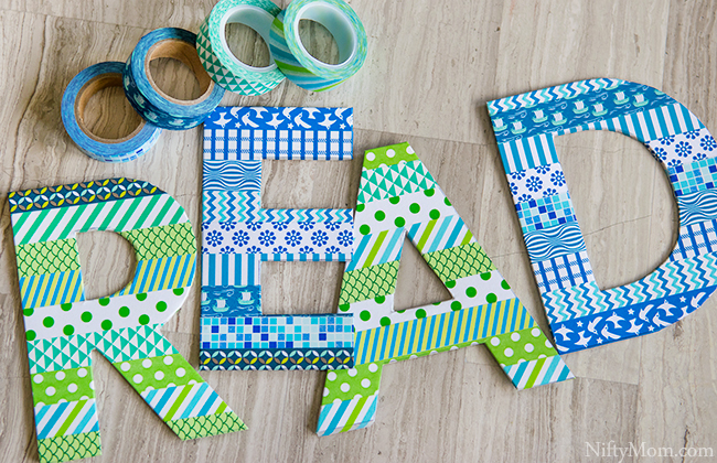 How to Make a  Washi Tape 'READ' Sign