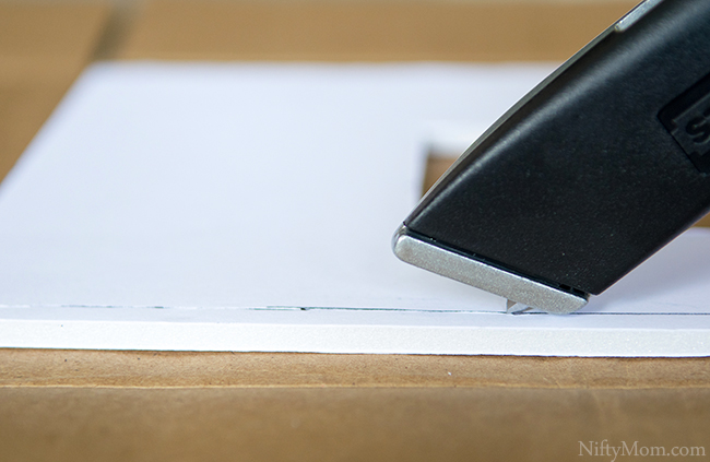 How to Make a Chalkboard Tissue Box Cover with Foam Board