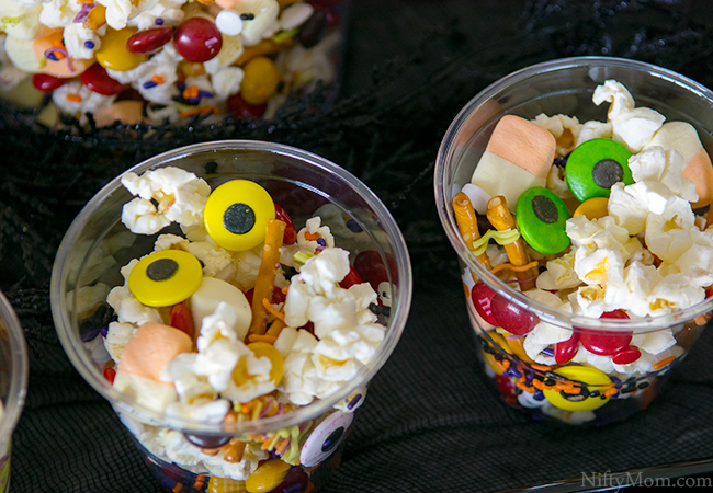 Halloween Monster Bash Party Ideas - Popcorn Snack Mix