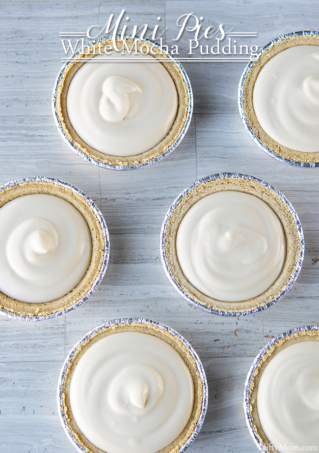 Easy Dessert Recipe - Mini White Mocha Pudding Pies