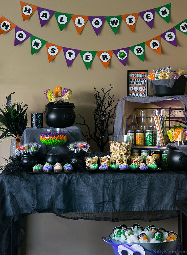 Halloween Monster Bash Party Ideas with Recipes & Free Printables