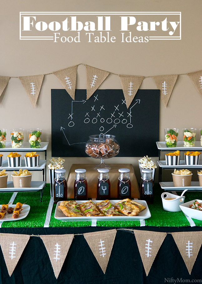 Football Party Food Table Ideas