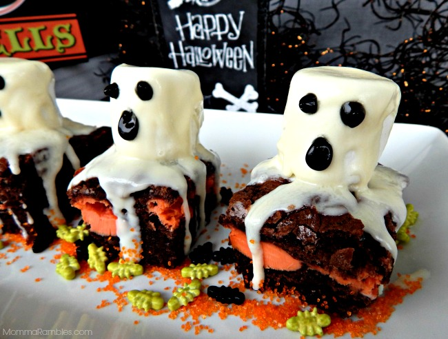 Halloween Ghost Brownies