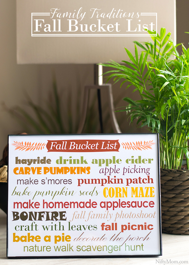 Family Traditions & a Printable Fall Bucket List