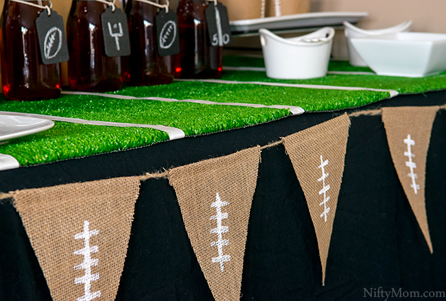 football-party-decor-astroturf-burlap