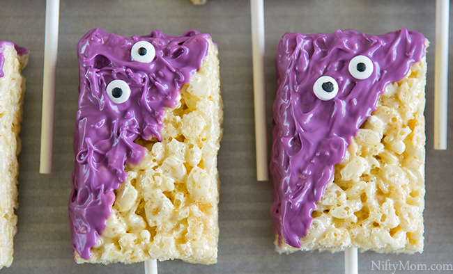 How to Make Monster Treats made with Rice Krispies Treats