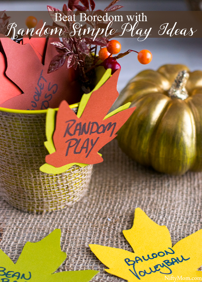 Beat Kids' Boredom with Random Simple Play Ideas in a Bucket