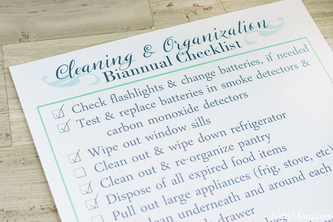 Free Printable Biannual Household Cleaning & Organization Checklist