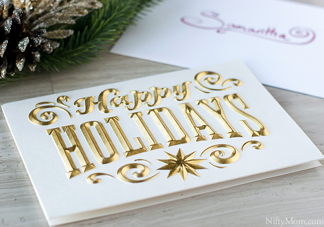 Gold Hallmark Signature Happy Holiday Card