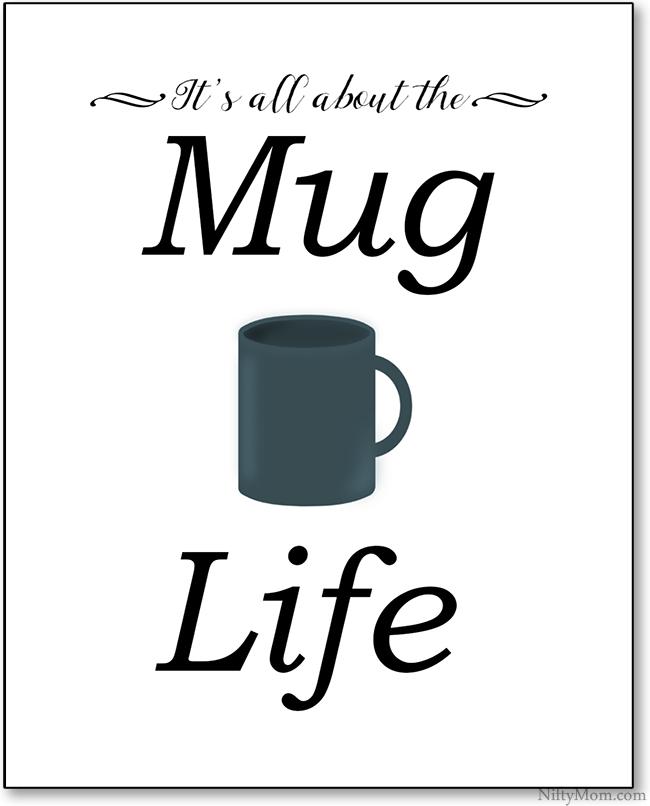 photo about Printable Coffee Mugs called Espresso Mug Obsession + a Mug Lifetime Printable