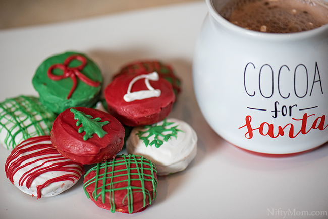 Christmas Candy-Coated Peanut Butter Sandwich Cookies - Something New For Santa