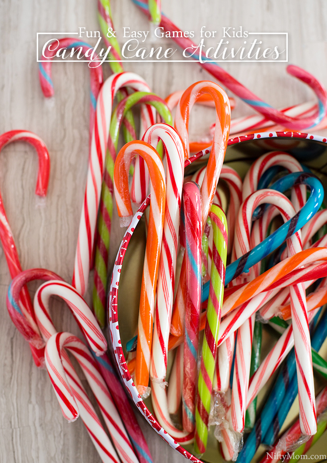 Fun & easy kids' activities for the holiday using candy canes!! These would be great for classroom parties, too!