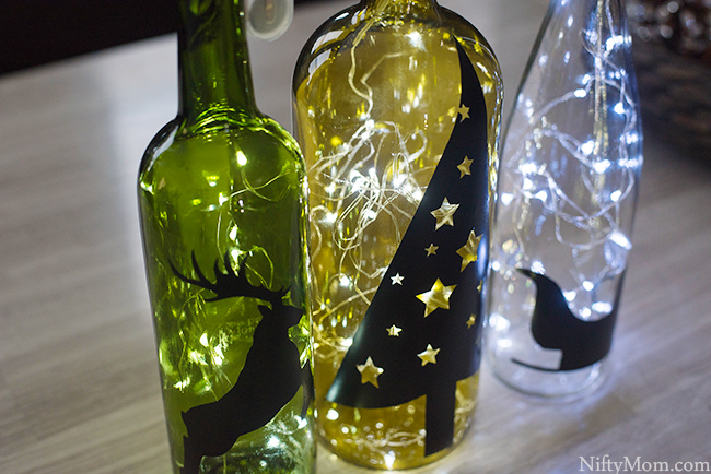 Diy Wine Bottle Holiday Decor