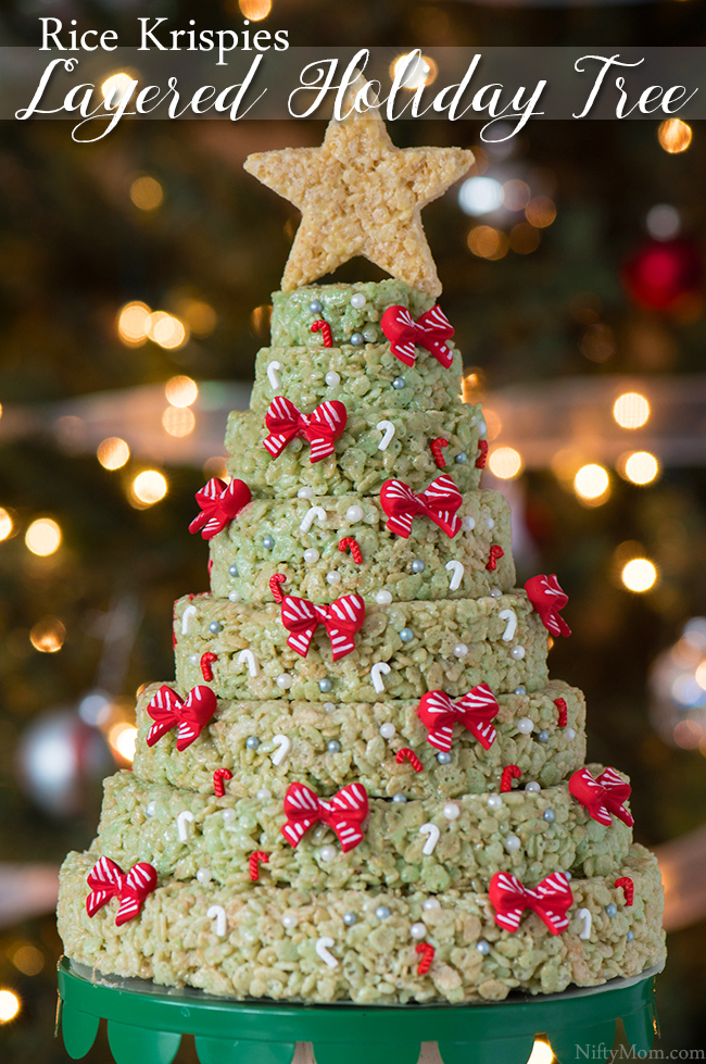 Rice Krispies Holiday Tree Layered Cake
