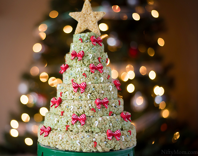 How to make a Rice Krispies Holiday Tree Layered Cake