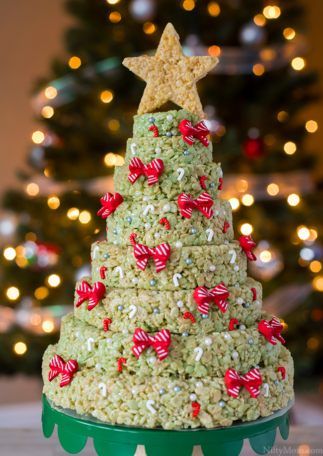 Rice Krispies Christmas Tree Layered Cake