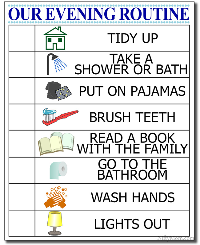 Kid's Evening Routine + Free Printable Checklist