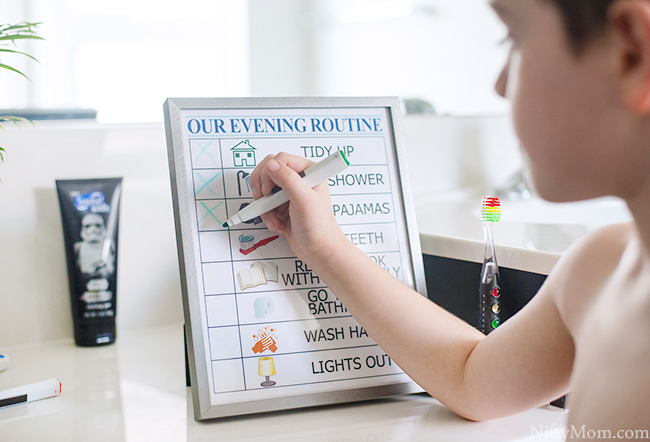 Printable Kid's Evening Routine Checklist