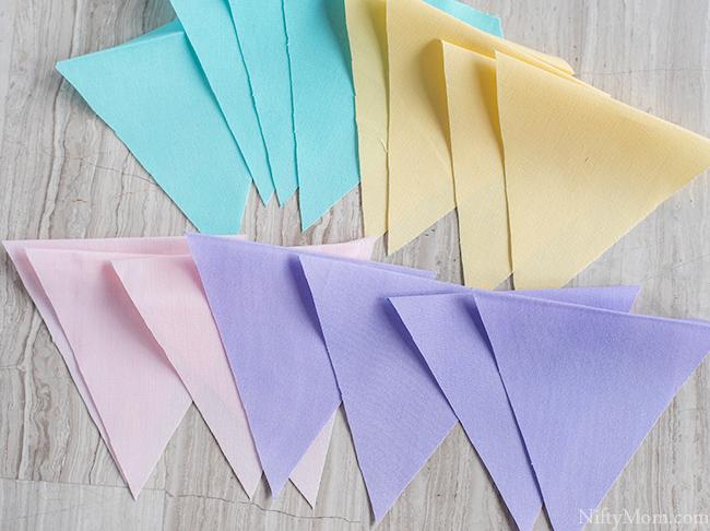 DIY Spring Fabric Banner