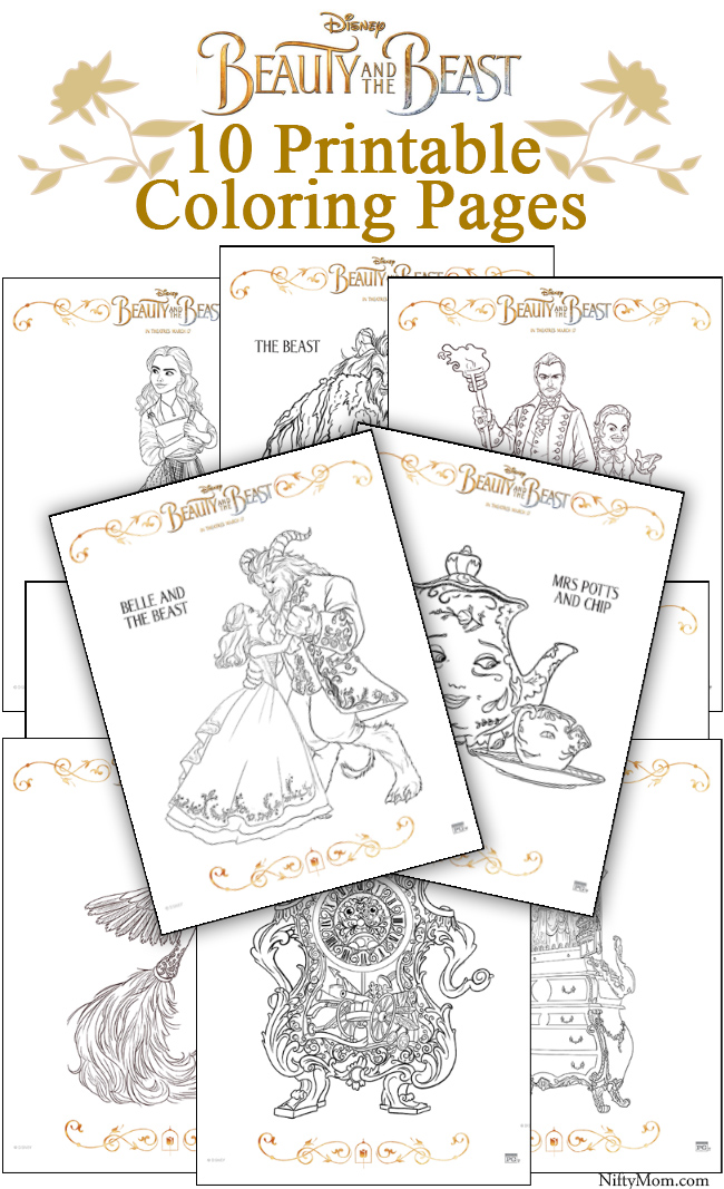 photo regarding Beauty and the Beast Printable Coloring Pages named Magnificence AND THE BEAST Coloring Web pages