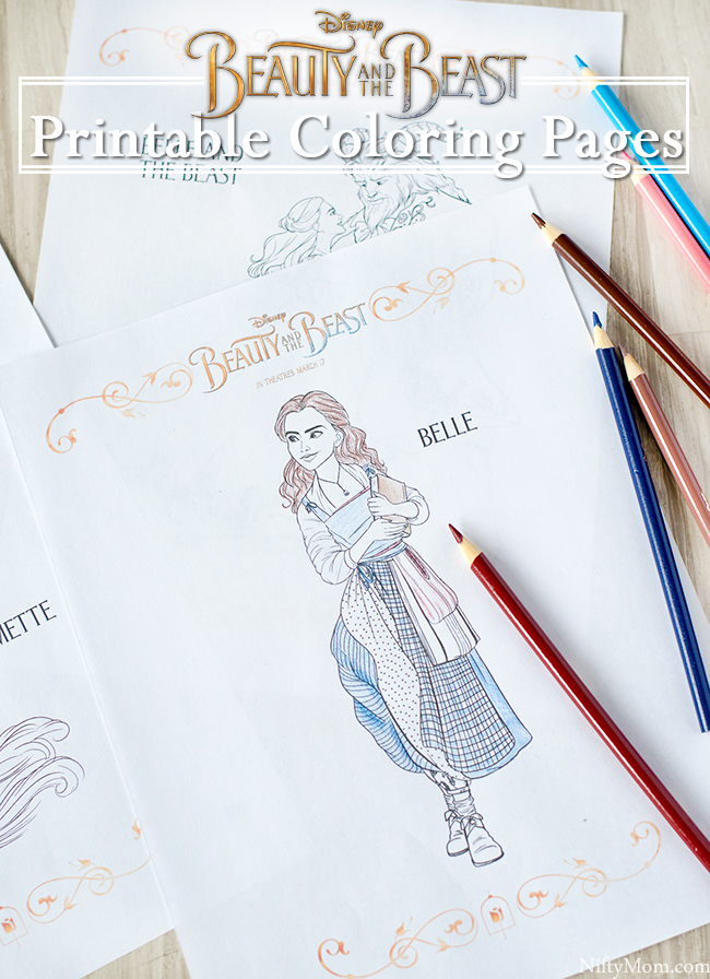10 Free Printable Beauty and the Beast Coloring Pages