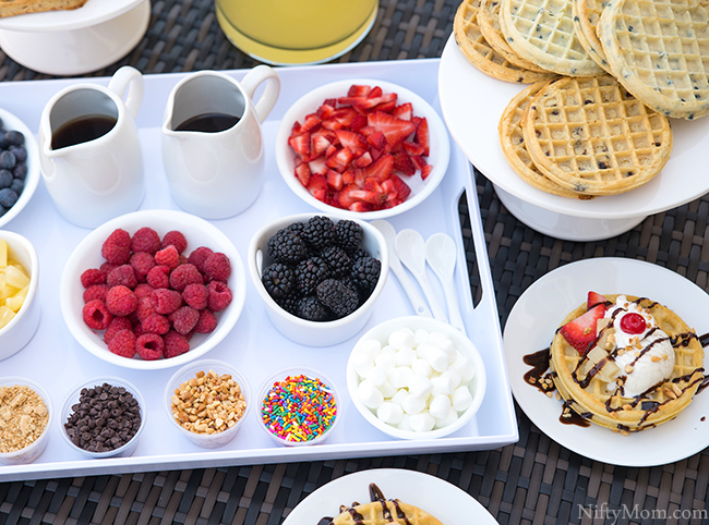 Outdoor Snack idea - Waffle Bar