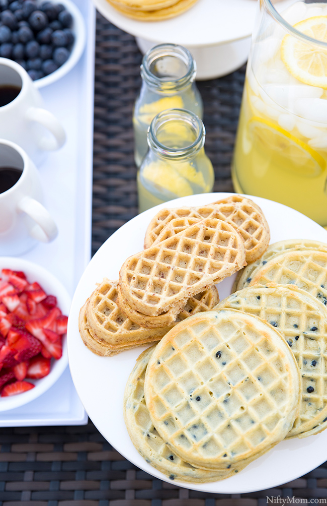 Outdoor Waffle Bar - Great Snack Idea!