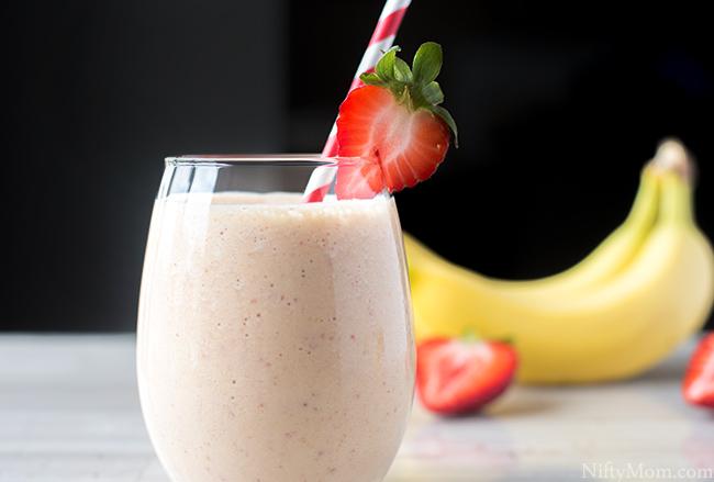 Strawberry Mango Protein Smoothie