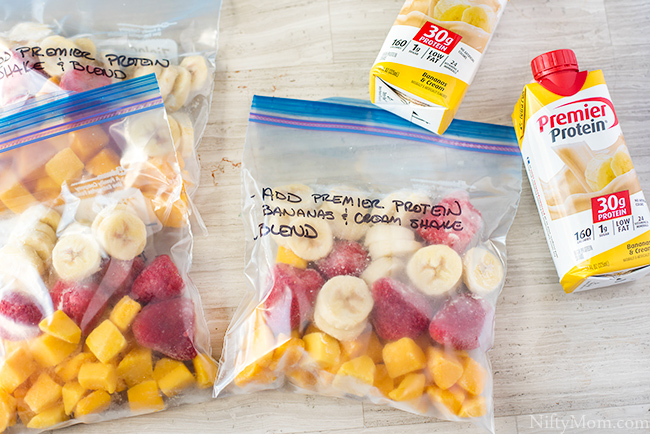 Make Ahead Smoothie Fruit Bags for Quick Protein Smoothies