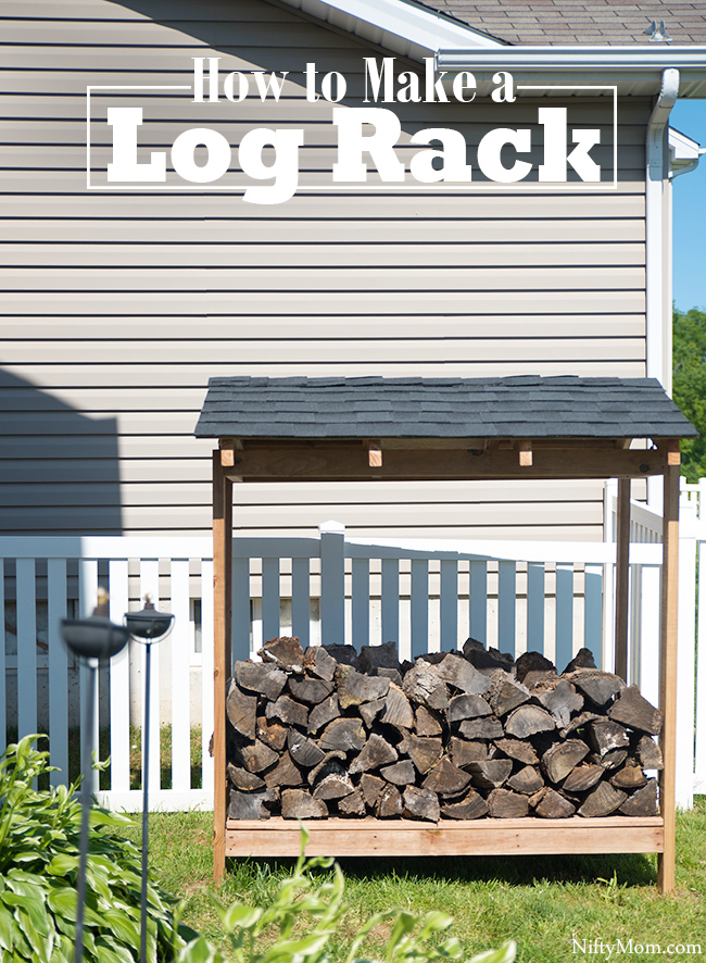 How to make a log rack with a roof