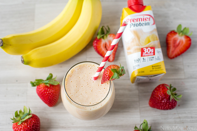 Strawberry Mango Protein Smoothie