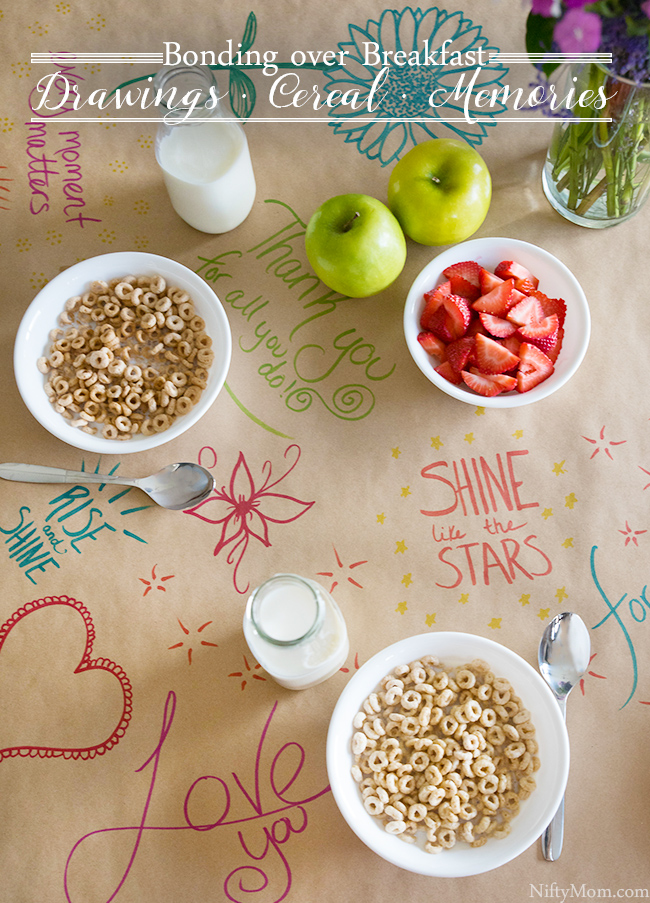 This fun kraft paper table runner idea is a simple gesture for loved ones