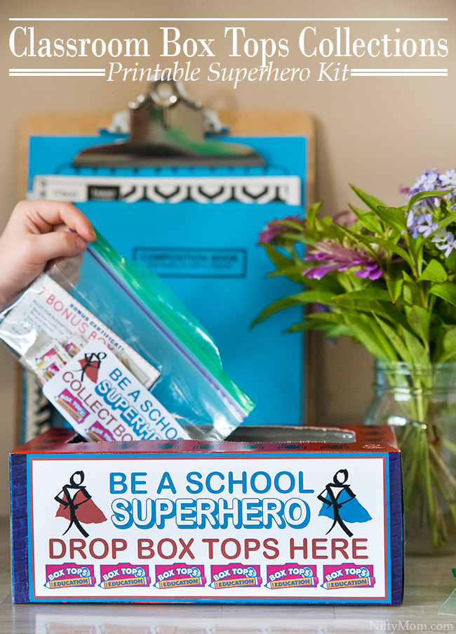 Classroom Box Tops Collection Idea {Superhero Printable Kit}