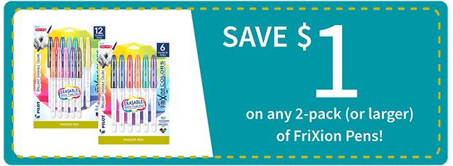 Save $1 on FriXion Pens