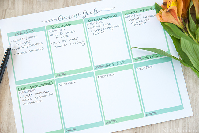Goal Setting Tips with a FREE Printable Worksheet