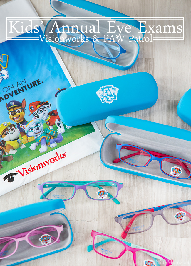 Kids Annual Eye Exams + Visionworks & PAW Patrol