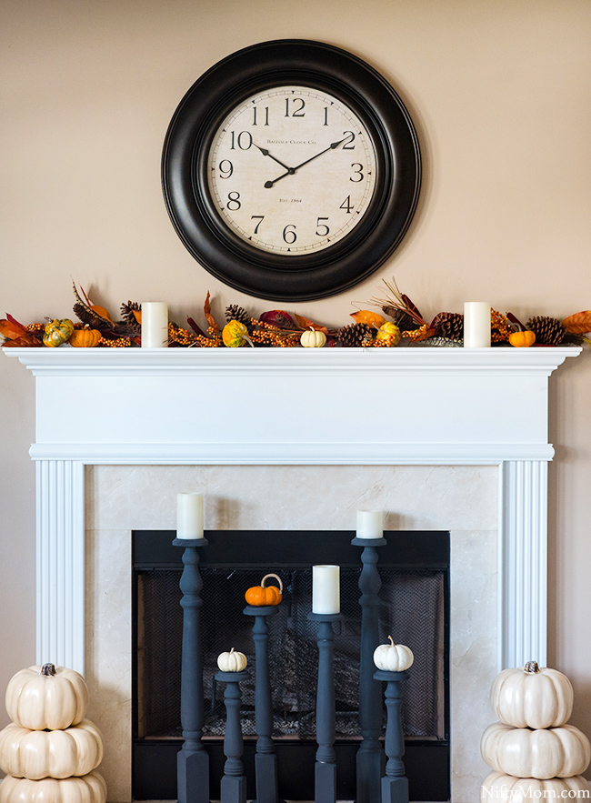 Easy Fall Mantel Decor Ideas
