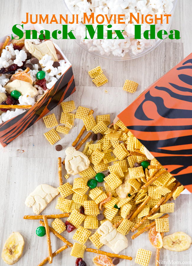 JUMANJI Movie Night - Snack Mix Idea