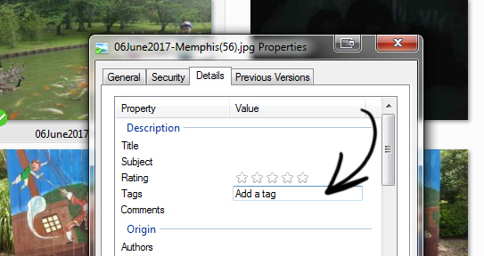 How to add tags and descriptions to pictures on the computer