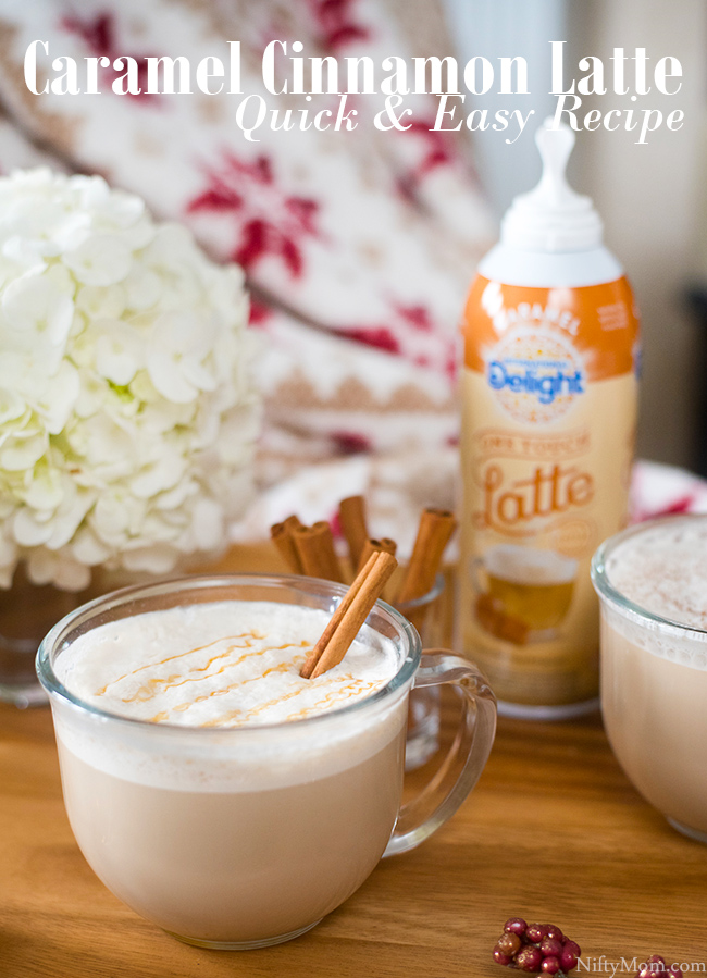 Easy Caramel Cinnamon Latte Recipe - A Holiday Favorite