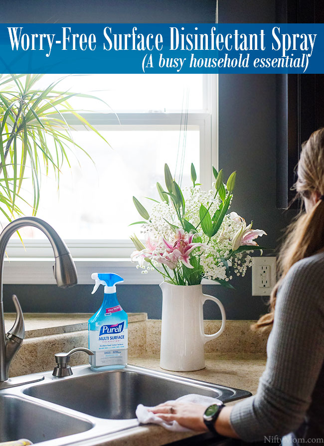 Worry-Free Surface Disinfectant Spray (A busy household must)
