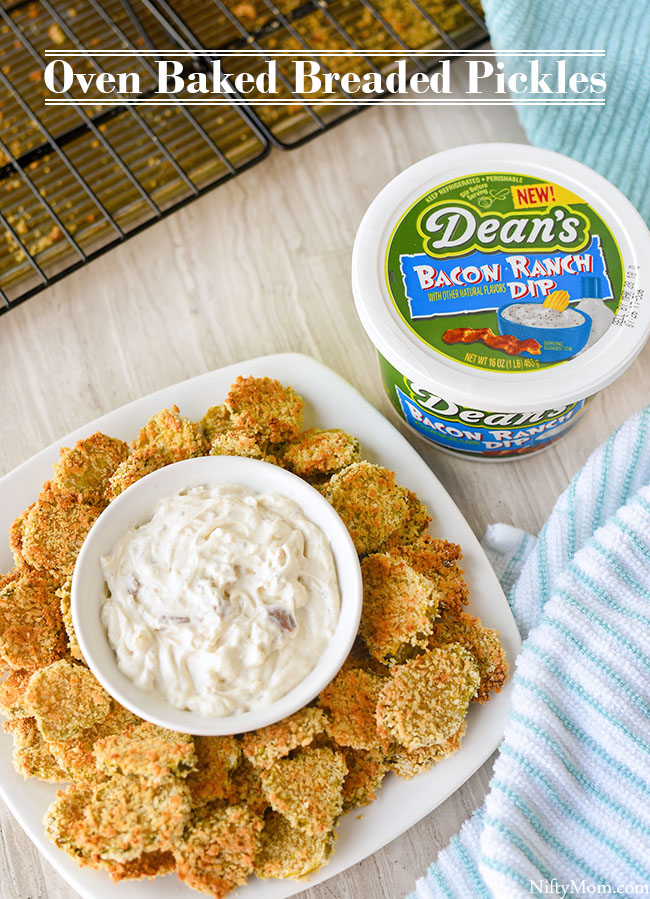 Crispy Oven Baked Breaded Pickles Recipe